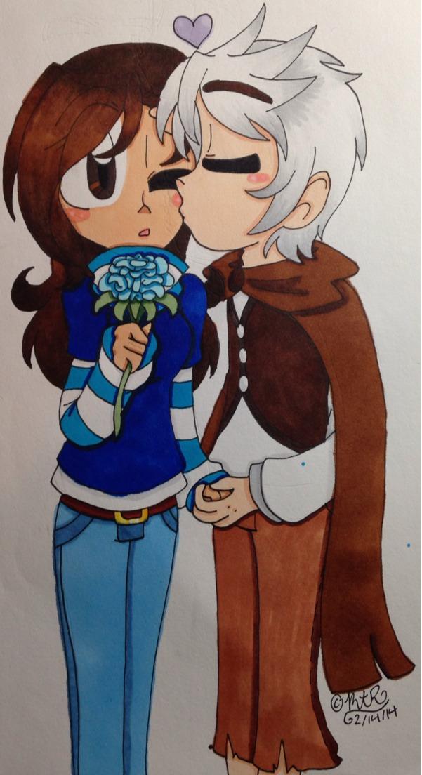 :Gift Art: Blue Flower by MariaTheHegdehog