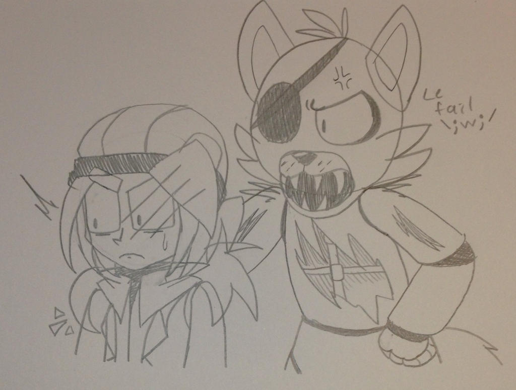 :Doodle: Two Pirates by MariaTheHegdehog