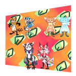Kyfesh collab Adopt sheet Summer themes (open) by Winelys-11Adopts