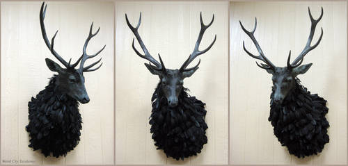 The Ravenstag (2) by WeirdCityTaxidermy
