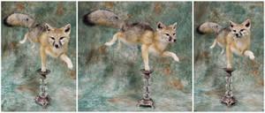 Swift Fox on a Candlestick by WeirdCityTaxidermy