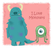 I Love Monsters by hpmoofrog
