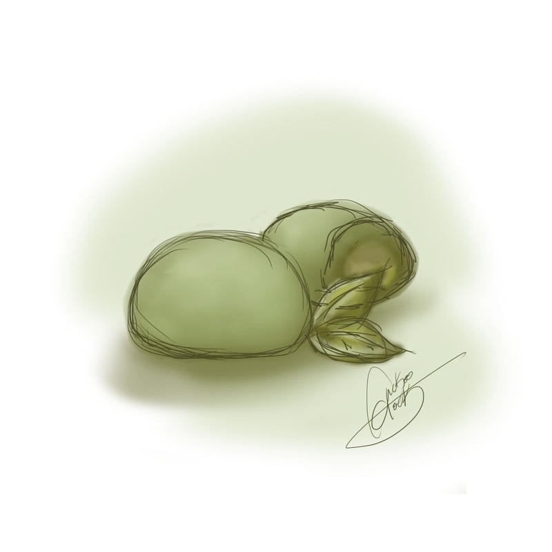 Sketches: Green Tea MOCHI! by NAD-LifeOfficial