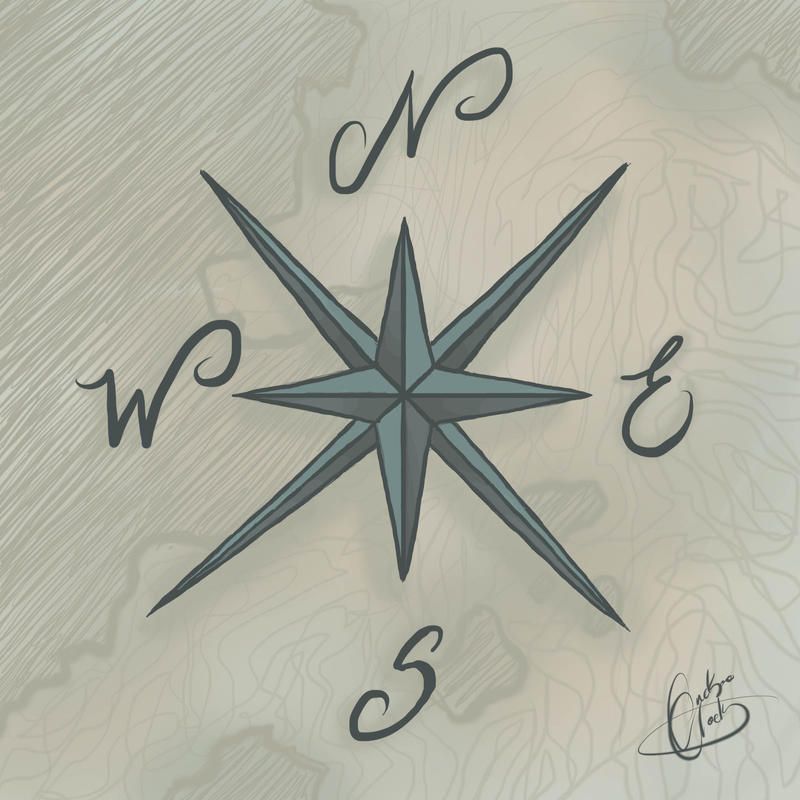 Compass Rose Drawing Drawing Sketches Compass