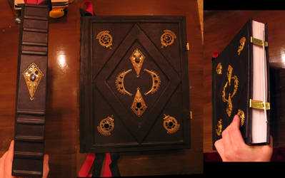 medieval tome grimoire book by oldsoulmasquer