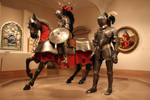Mounted knight and squire  1