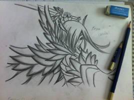 Erza Scarlet: Heaven's wheel drawing by NaLulu1