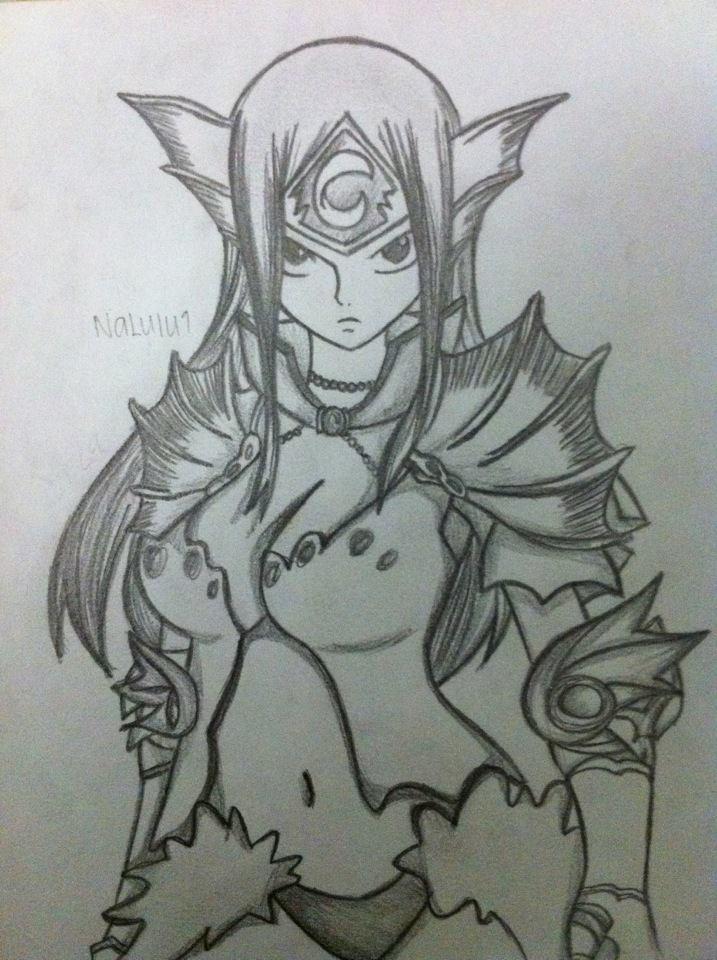 Erza Scarlet: Sea empress armor Drawing! by NaLulu1 on DeviantArt