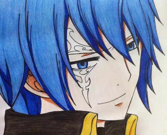 Jellal color pencil by nalulu1
