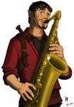 Sax guy - Coloured