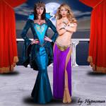 The Queen and her hypno-slavegirl