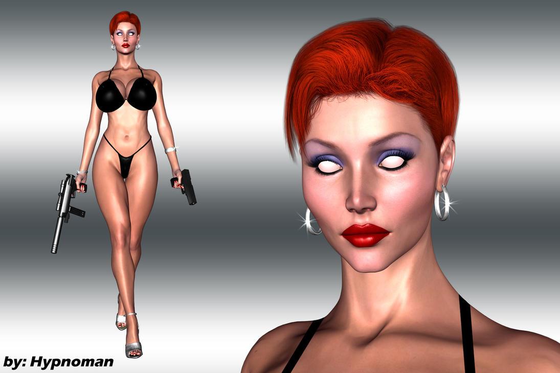 Talia_mindless and lethal_bikini version by THE-HYPNOMAN