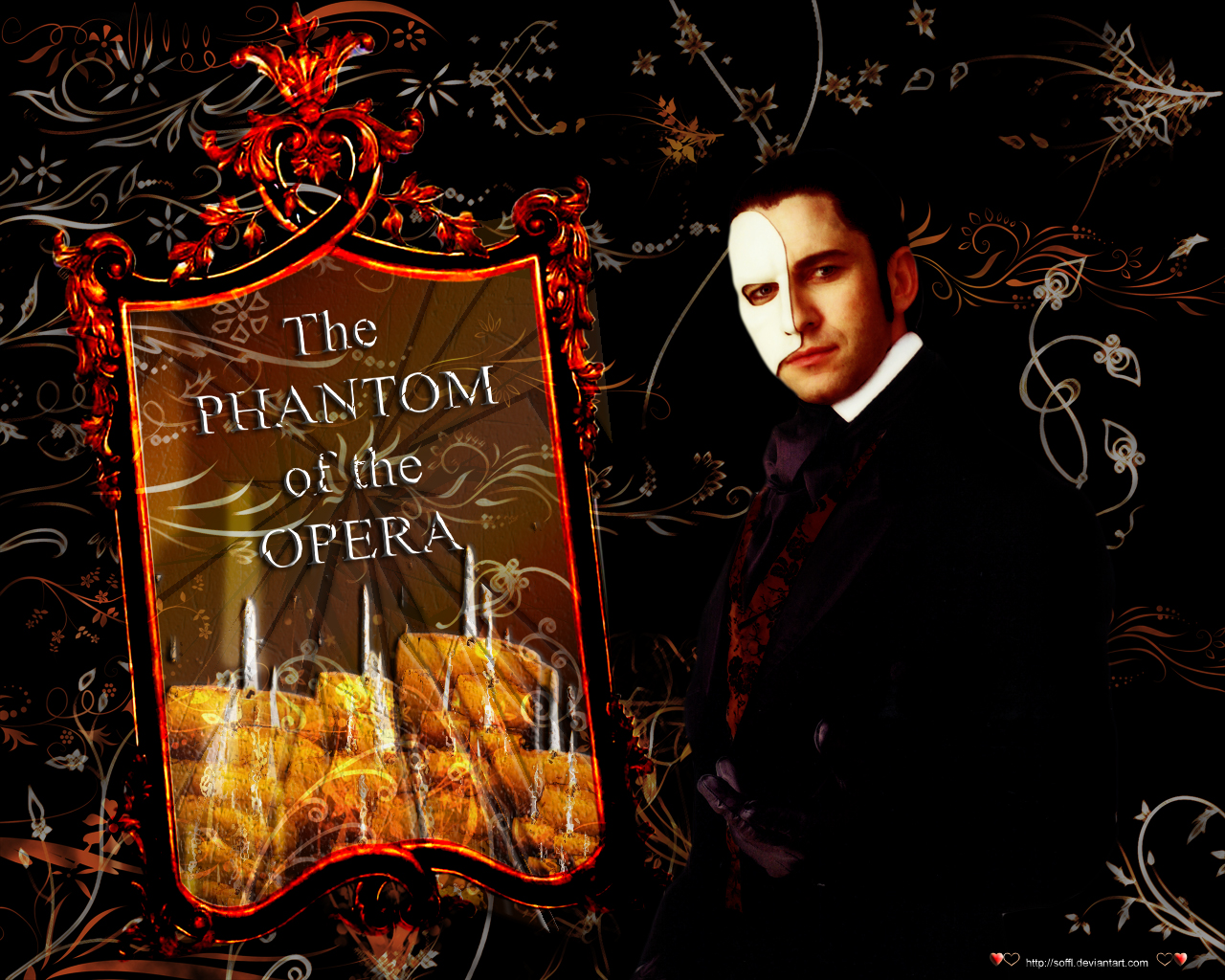 Phantom of the Opera Wallpaper by soffl
