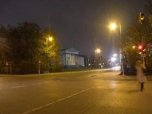 Munich Crossroads at Night