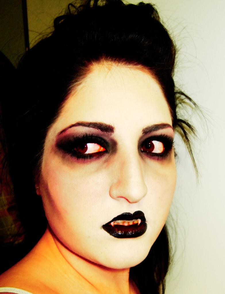 Фото макияжа на хэллоуин вампир