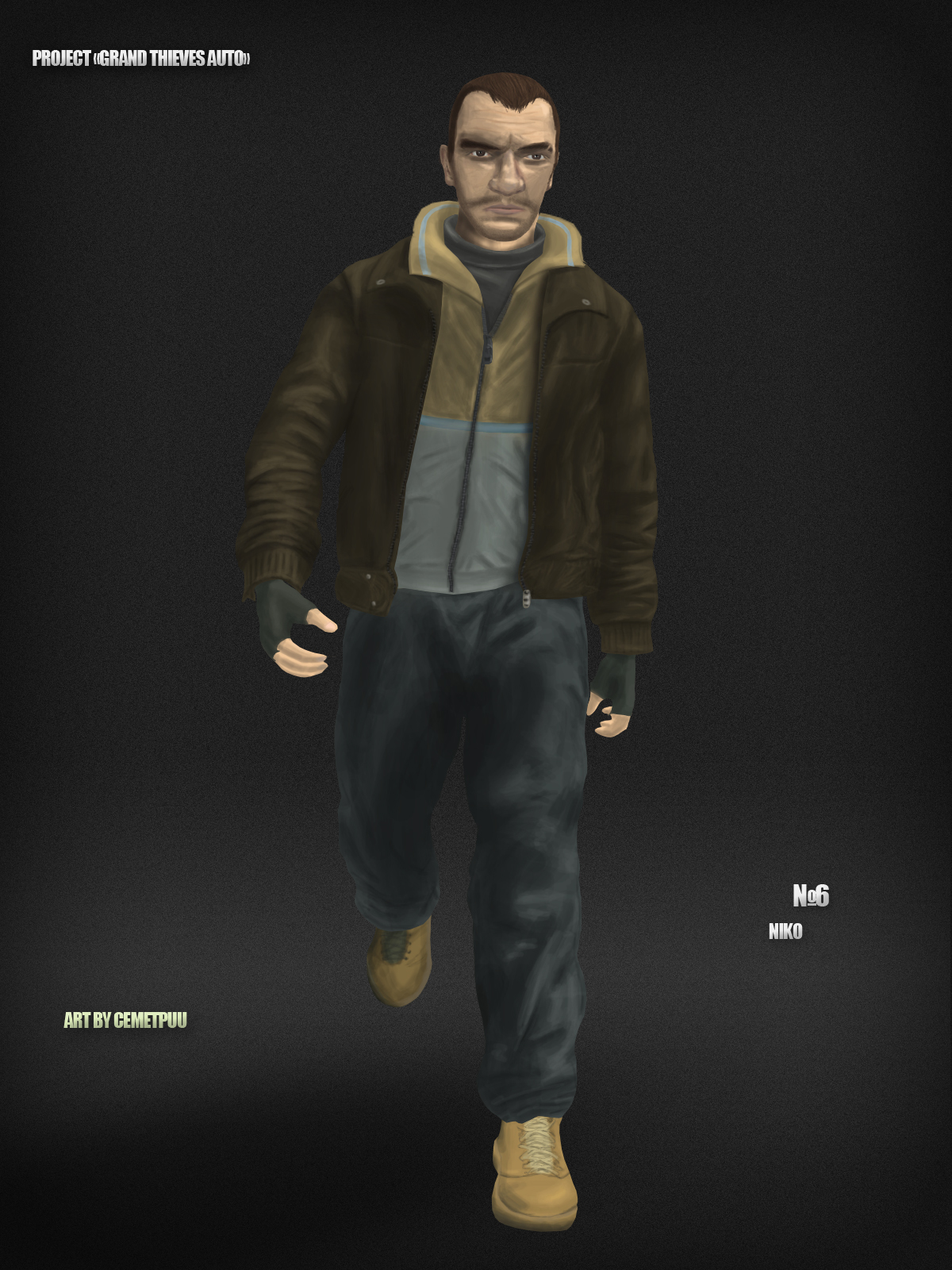 Niko Bellic By Cemetpuu On Deviantart
