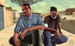 GTA San Andreas FanArt (in V-style arts) FULL!