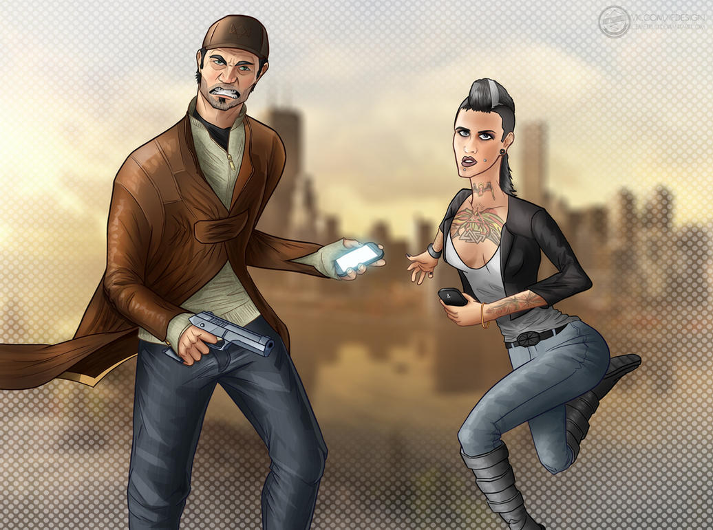WATCH DOGS: Aiden and Clara by Cemetpuu