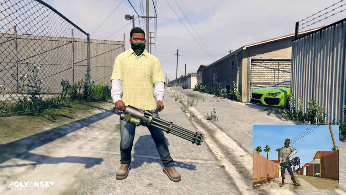 GTA V: Franklin with minigan Ingame by Cemetpuu