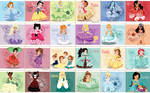 Disney and No-Disney Young Princess ~ Giant Panel
