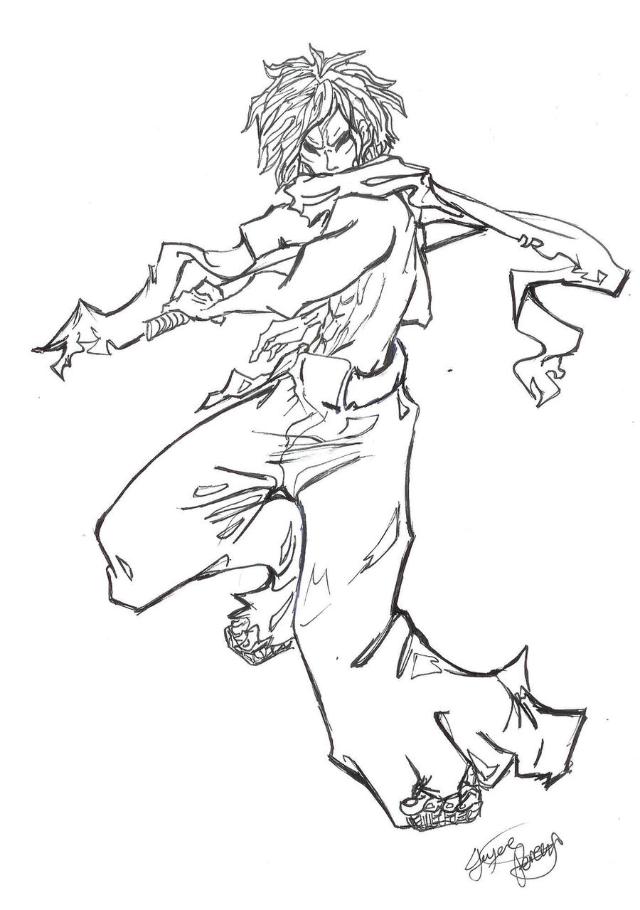 Line Art Action Photo : Samurai pose by kirakyuuketsuki on deviantart