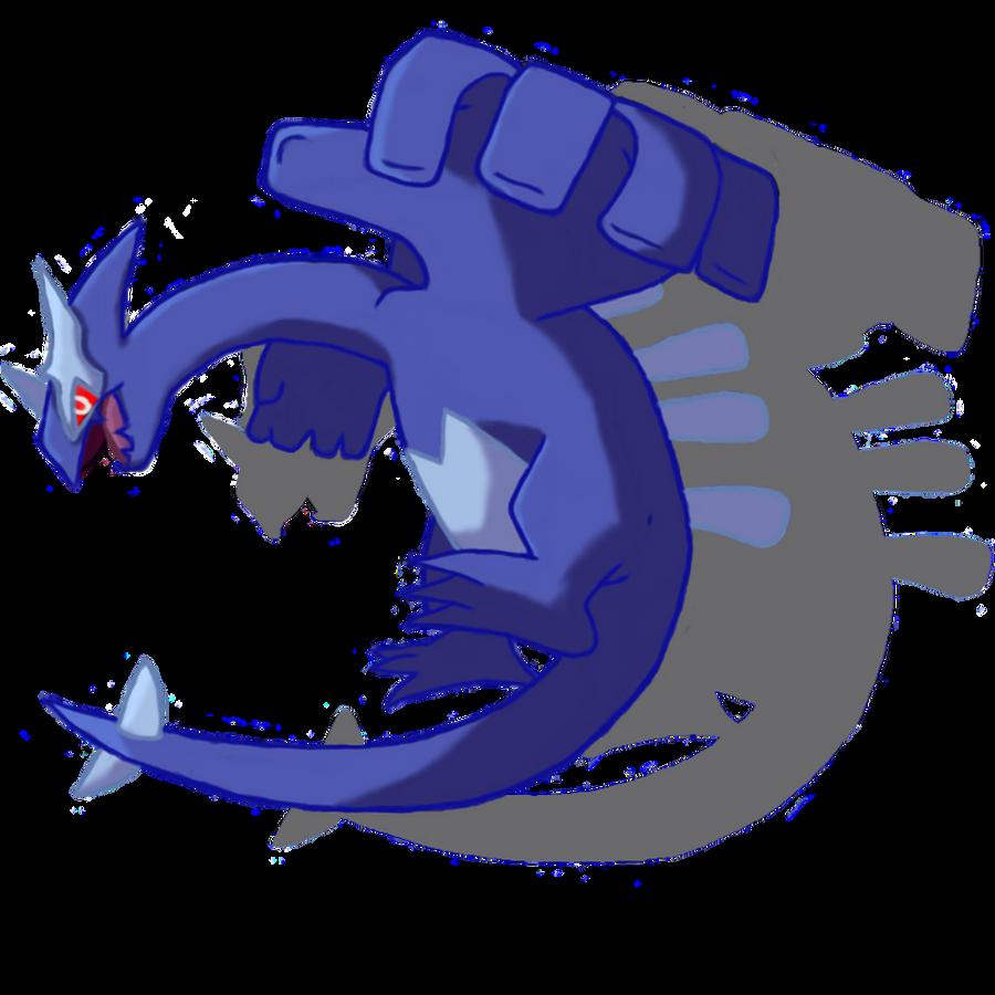 Shadow Lugia #1 by Kenisu-of-Dragons