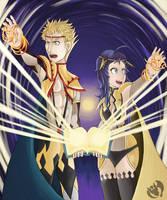 Odin and Ophelia Dark by Kenisu-of-Dragons