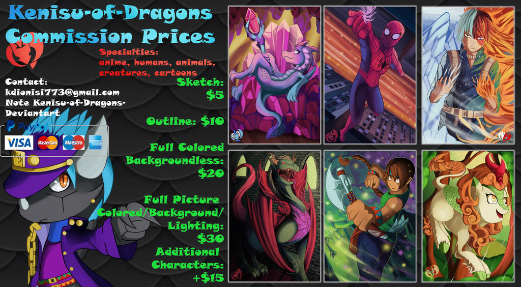 KOD Commission Prices 2019