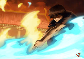 Zuko The last Agni Kai redraw