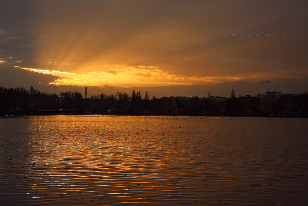 Evening Gold by verycre8iv