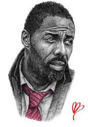 Luther (Idris Elba) by Antony-Bagley-Art