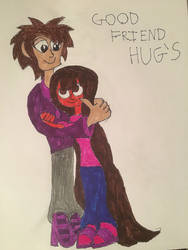 Frank and Hannah Good Friend Hug's by nyro1