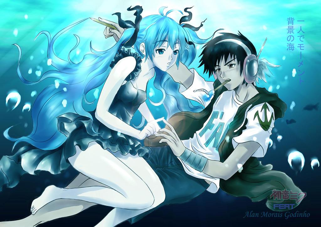 Deep sea girl  Alan Morais G feat Hatsune Miku by hirkey