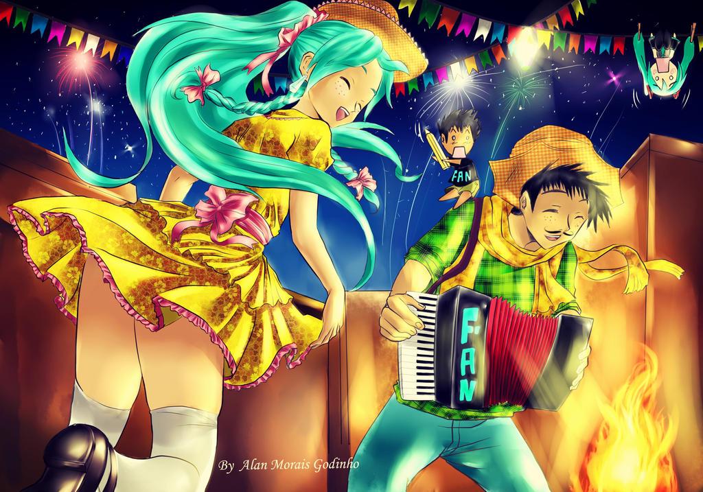 Festa Junina Alan e Miku.jpg by hirkey