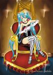 Miku rainha de copas *Miku queen of hearts By Alan by hirkey