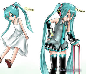 Young Miku and Old Miku by Alan Morais Godinho