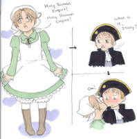 :APH: Chibitalia and HRE by Love-Aine