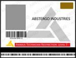 Abstergo Industries ID card