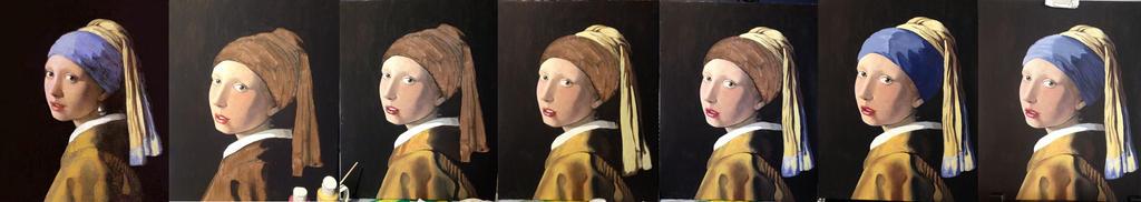 Het meisje met de parel WIP by Haddrian