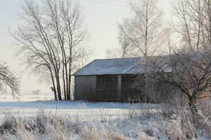 A winter barn