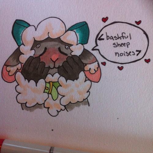 Bashful sheep by weepysheep