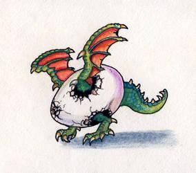 Dragon Hatchling - Nearly by vshjaar