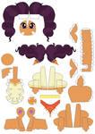 Saffron Masala papercraft by Grulaz