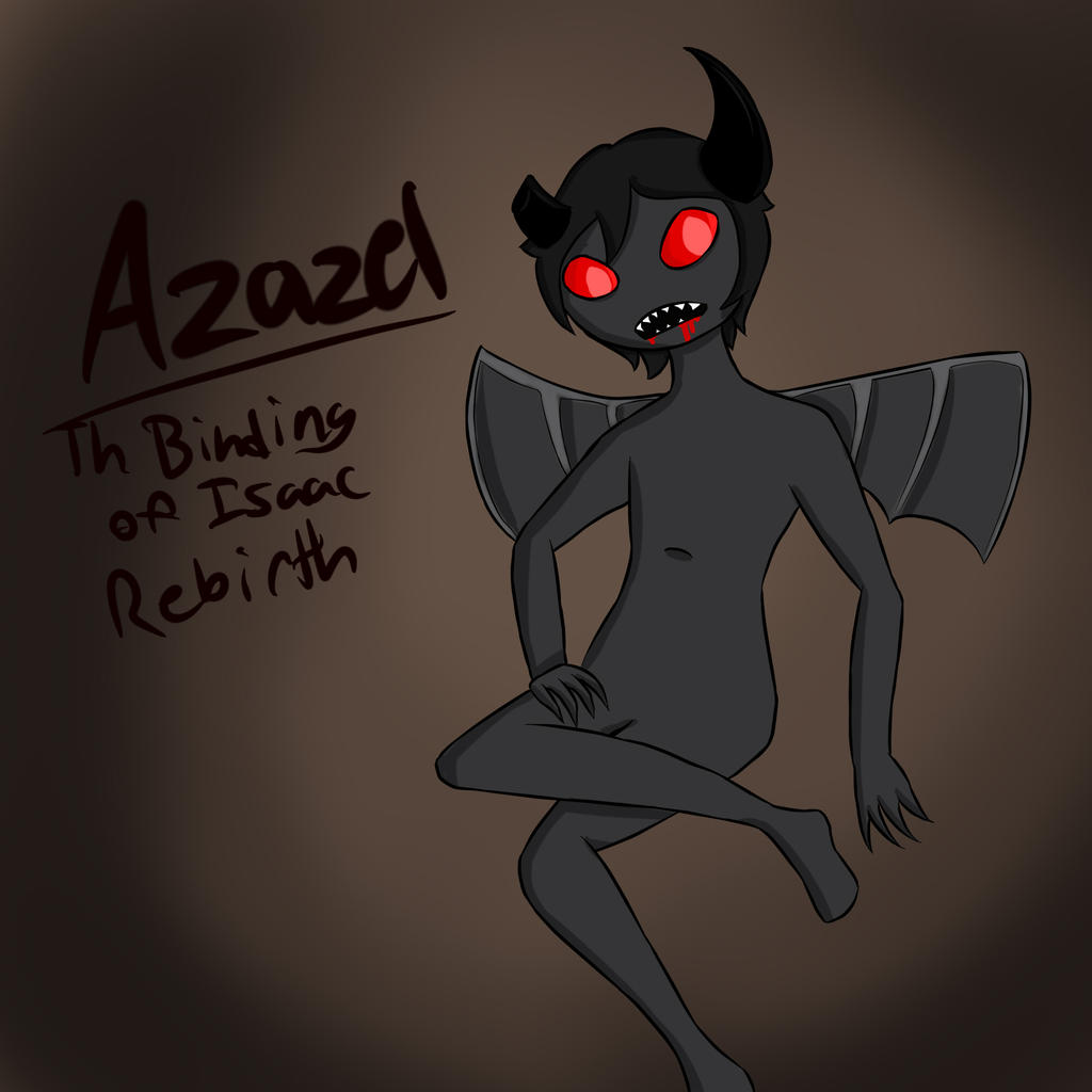 Azazel: The Binding Of Isaac Rebirth By IbbyWonder6 On