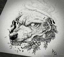 Tattoo commission WIP by KGArtDesign