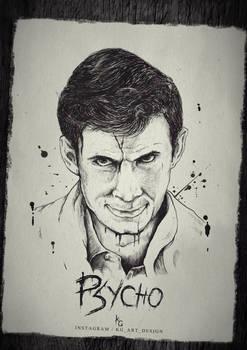 Norman Bates - Psycho quick fanart by KGArtDesign