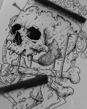 Skull artwork for metal band from Germany