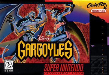 Disney's Gargoyles SNES cover by PeruAlonso