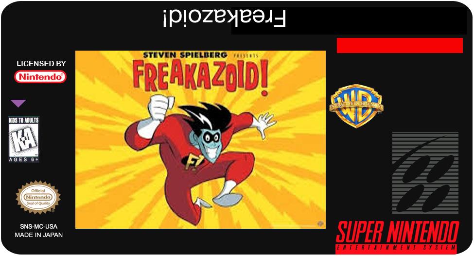 Freakazoid! SNES label
