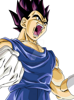 Vegeta .:Lineart01:. Color